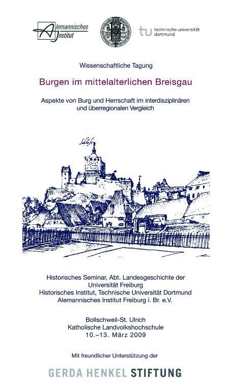 """plakat zur tagung """"burgen im mittelalterlichen breisgau"""""""